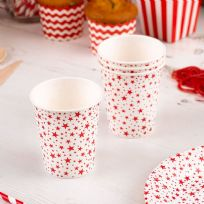 Carnival Red Paper Cups - Stars (8)